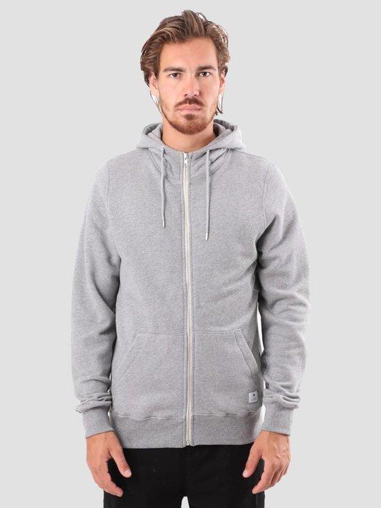 RVLT Preben Zip Hoodie Sweatshirt Grey Mel 2011