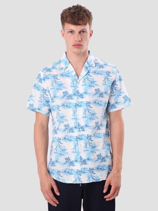 RVLT Printed Shirt Blue 3644
