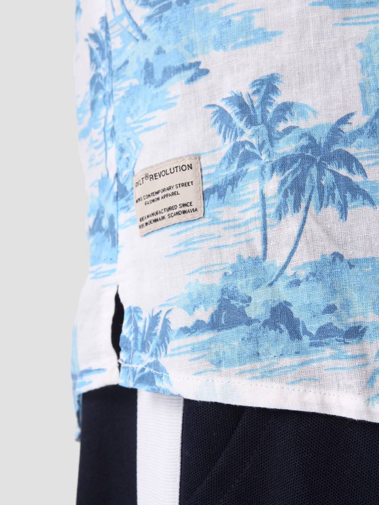 RVLT RVLT Printed Shirt Blue 3644