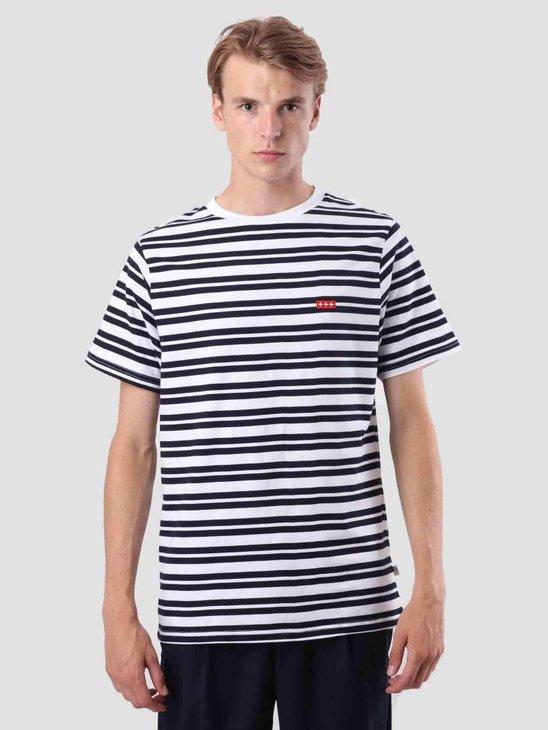 Quality Blanks QB96 Double Stripe T-shirt Dark Sapphire