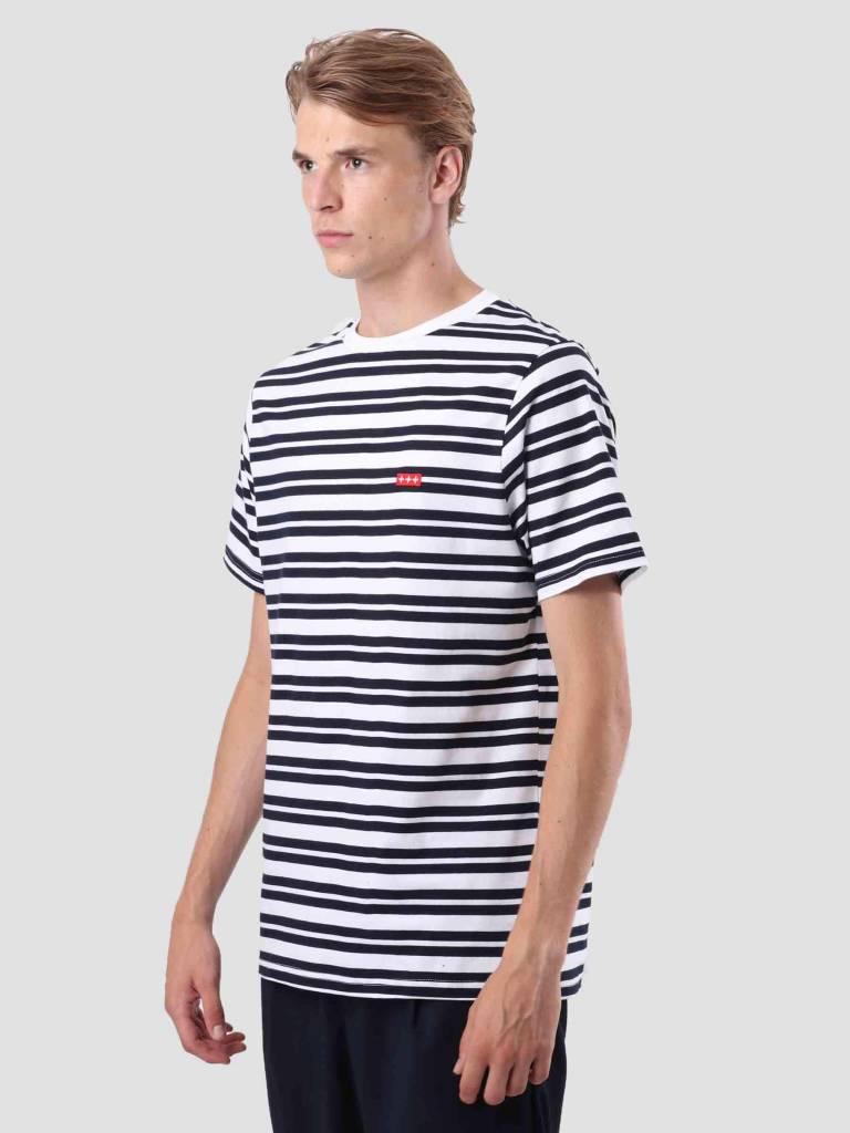 Quality Blanks Quality Blanks QB96 Double Stripe T-shirt Dark Sapphire