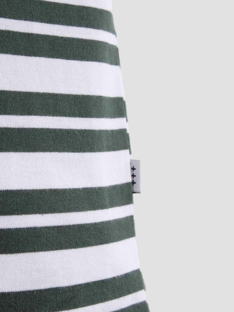 Quality Blanks Quality Blanks QB96 Double Stripe T-shirt Pineneedle