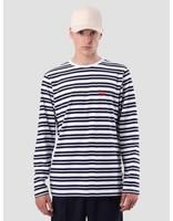 Quality Blanks Quality Blanks QB97 Double Stripe Longsleeve Dark Sapphire