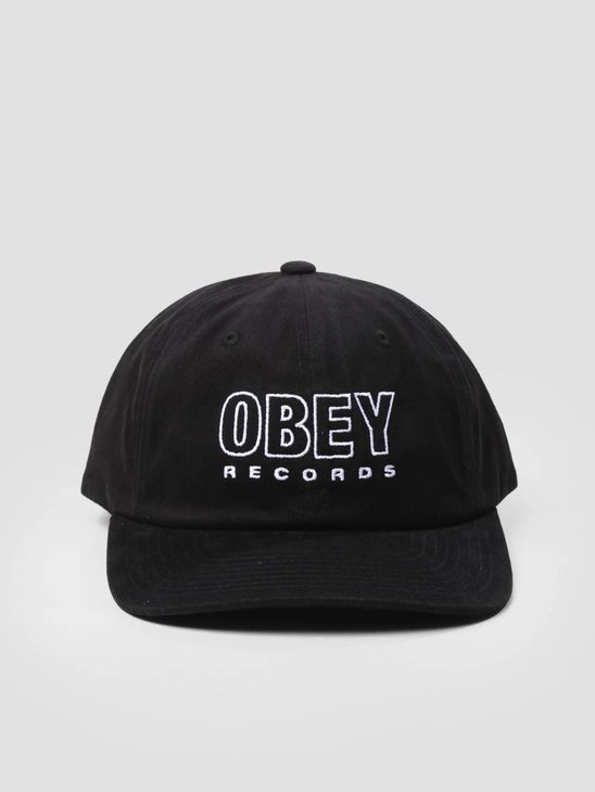 Obey Reserved 6 Panel Snapback Black 100580143