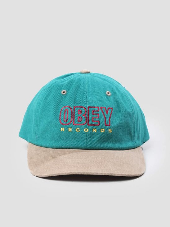Obey Reserved 6 Panel Snapback Teal 100580143
