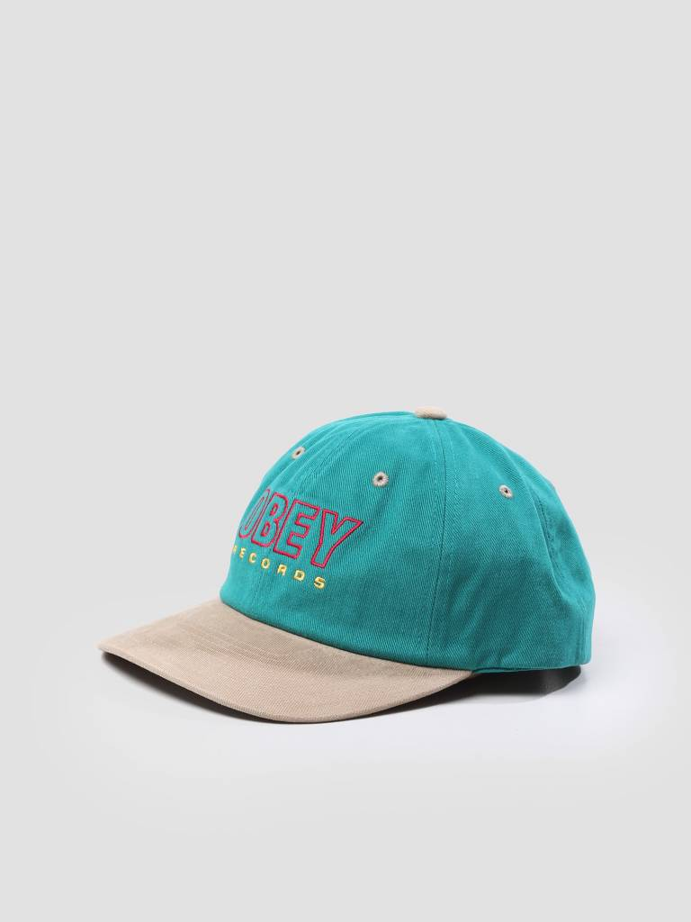 Obey Obey Reserved 6 Panel Snapback Teal 100580143