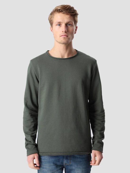 RVLT Rolled Edges Crewneck Army 2003