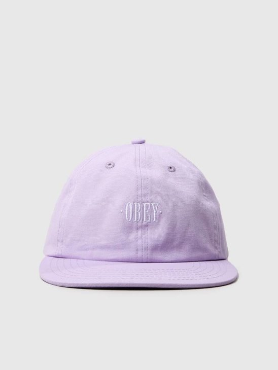 Obey Rosa 6 Panel Snapback Pale Purple 100580134