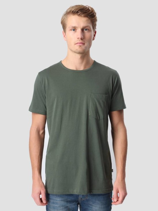 RVLT Round Neck Pocket T-Shirt Army 1002
