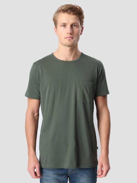 RVLT Round Neck Pocket T-Shirt Army 1002