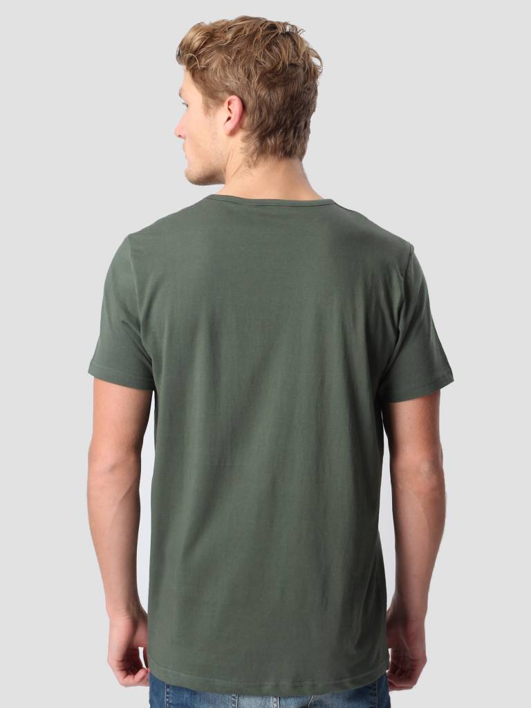 RVLT RVLT Round Neck Pocket T-Shirt Army 1002