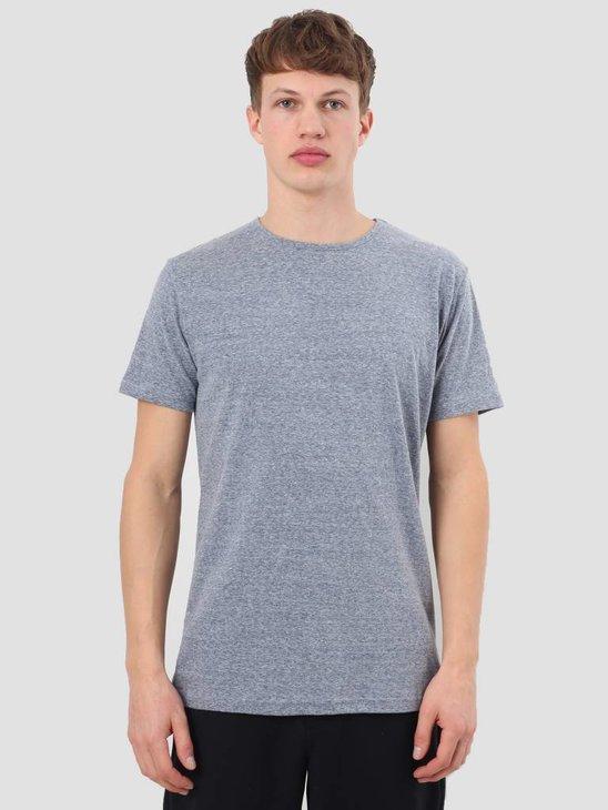 RVLT Round Neck T-Shirt Navy Melange 1001