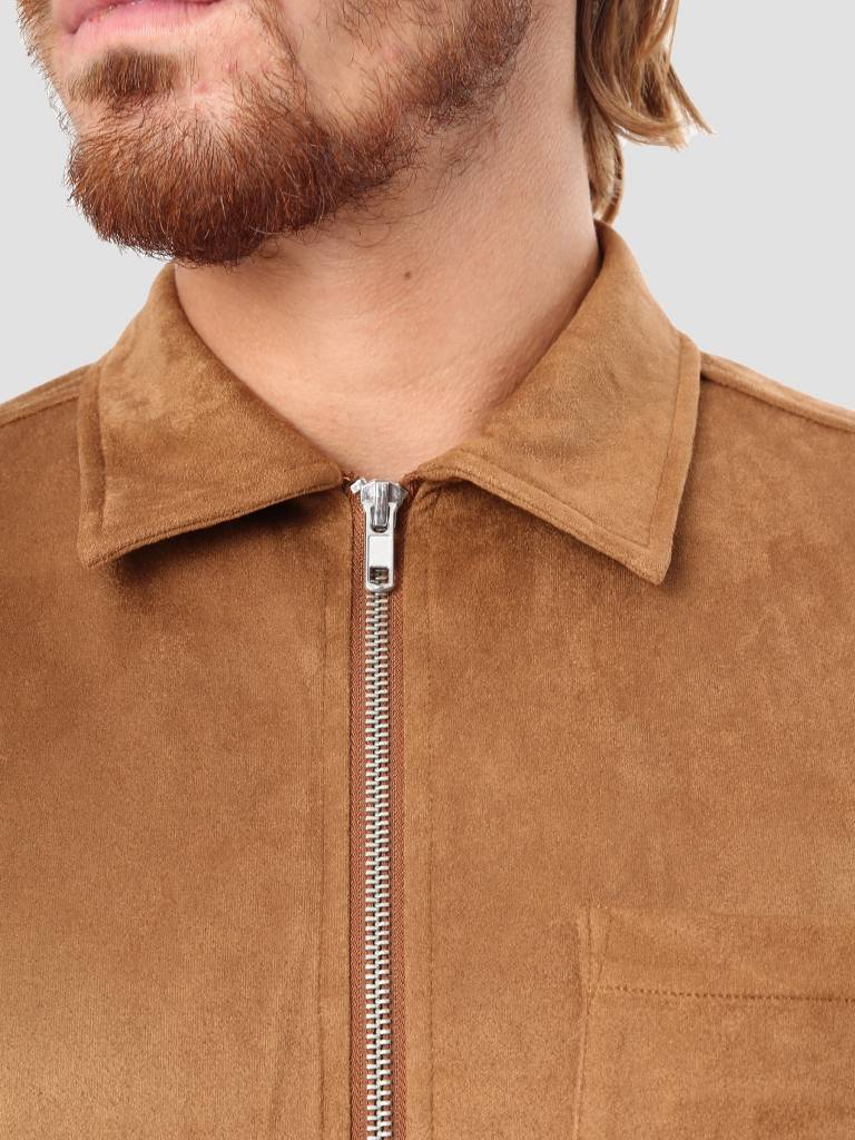 LEGENDS LEGENDS San Antonio Zip Shirt Brown 223-35-317