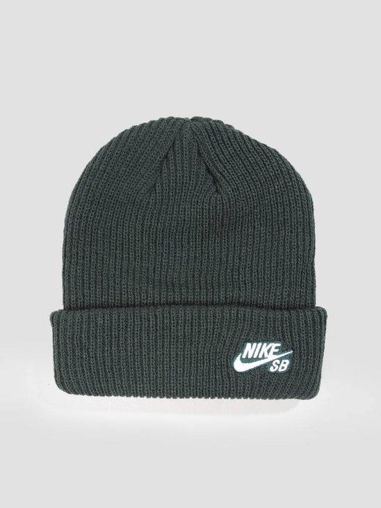 Nike Sb Fisherman Cap Midnight Green White 628684-327