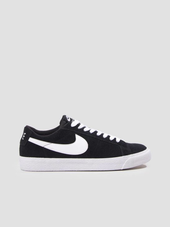 Nike SB Zoom Blazer Low Skateboarding Shoe Black White Gum Light Brown 864347-019