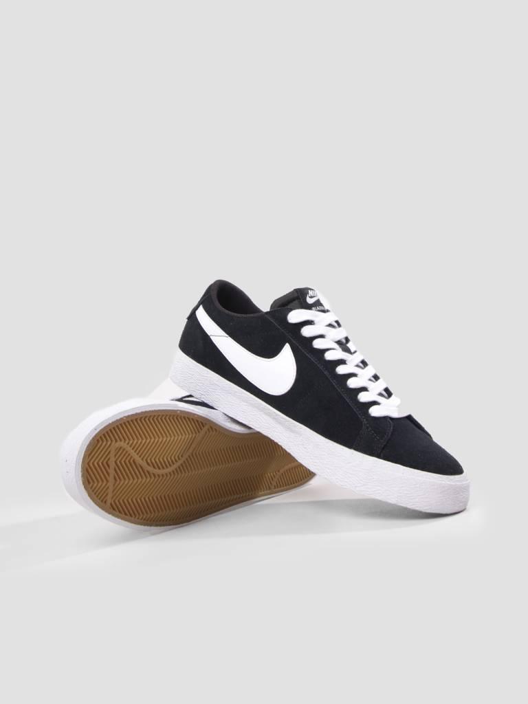 Nike Nike SB Zoom Blazer Low Skateboarding Shoe Black White Gum Light Brown 864347-019