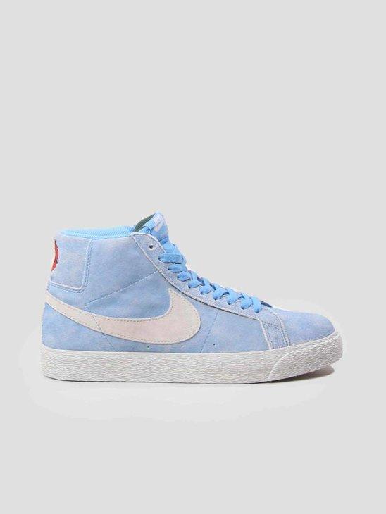 Nike SB Zoom Blazer Mid Skateboarding Shoe University Blue Light Bone-Habanero Red 864349-406