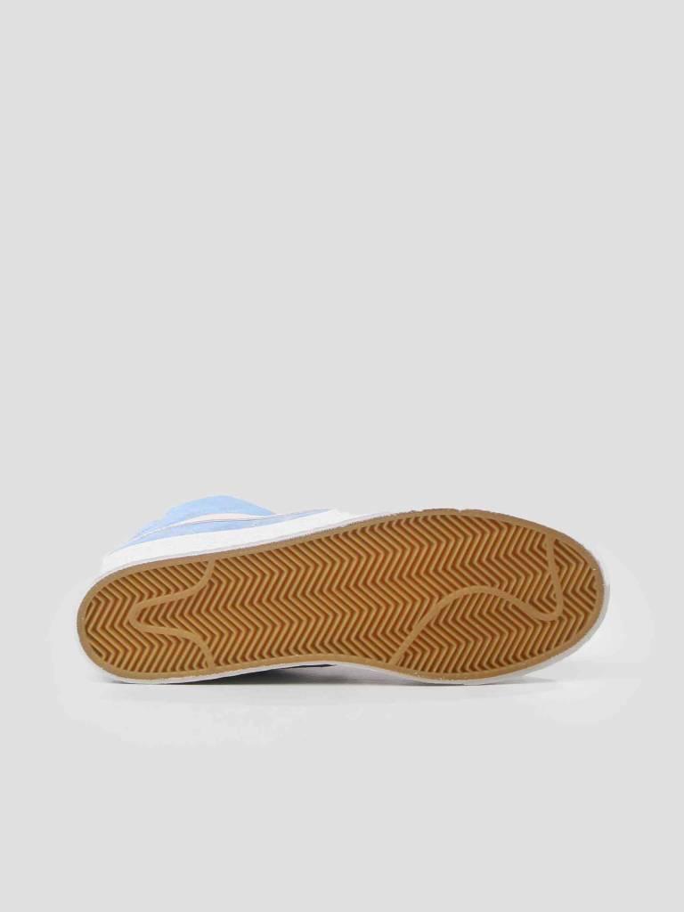 Nike Nike SB Zoom Blazer Mid Skateboarding Shoe University Blue Light Bone-Habanero Red 864349-406