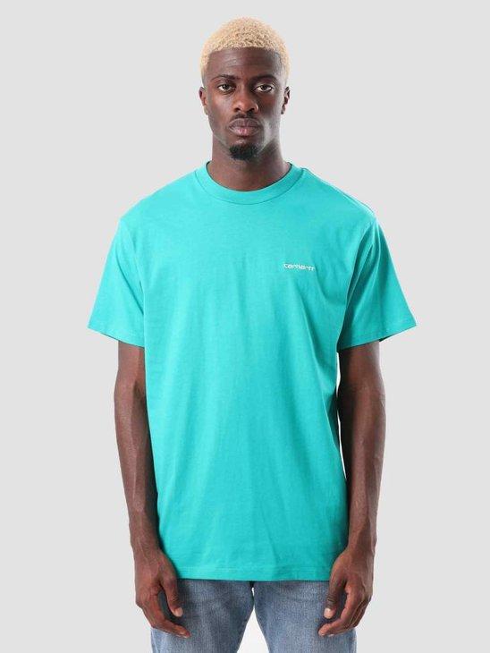 Carhartt WIP Script Embroidery T-Shirt Cauma White I025778-89390