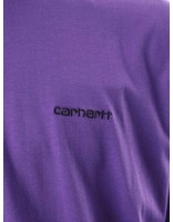 Carhartt Carhartt Script Embroidery T-Shirt Frosted Viola Black I025778-D490