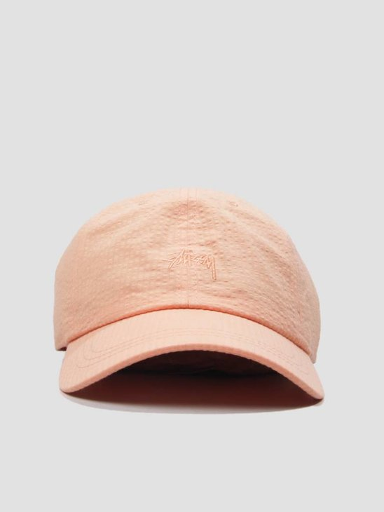 Stussy Seersucker Low Pro Cap Peach 131800