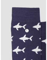Alfredo Gonzales Alfredo Gonzales Shark Attack Navy Beige Socks AG-Sk-GL-03