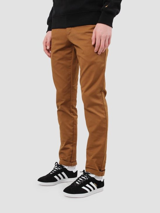 Carhartt WIP Sid Pant Rinsed Hamilton Brown I003367-HZ02