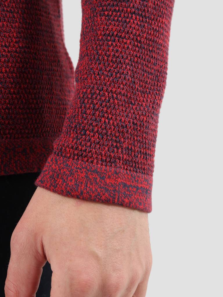 RVLT RVLT Slim Fit Pearl Structure Knit Red 6470