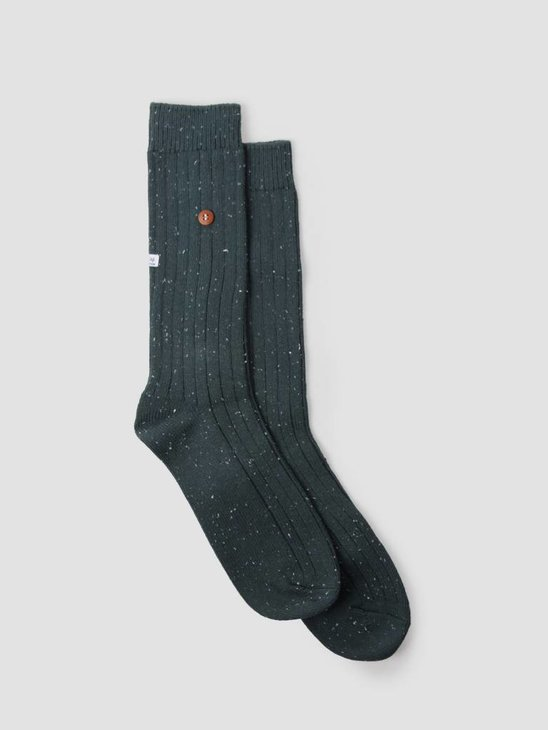 Alfredo Gonzales Speckled Cotton Socks Army AG-Sk-SW-01
