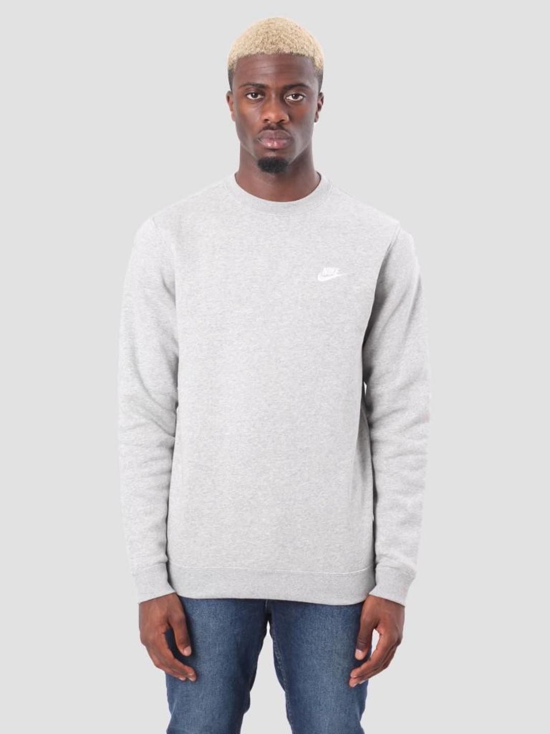 17aaa585 Nike Sportswear Crew Dk Grey Heather White 804340-063 | FRESHCOTTON