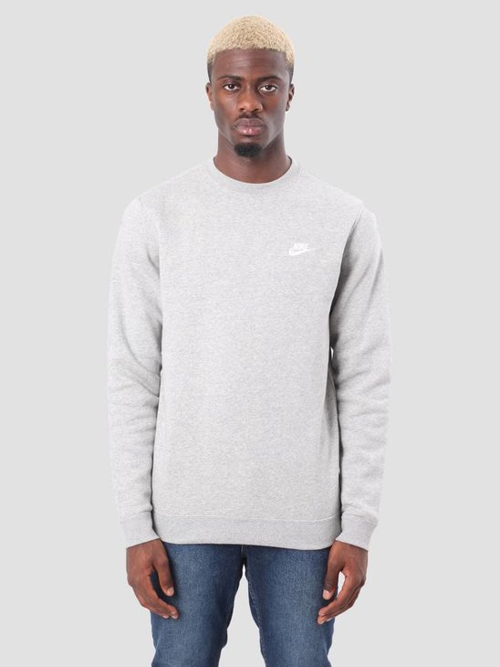 Nike Sportswear Crew Dk Grey Heather White 804340-063