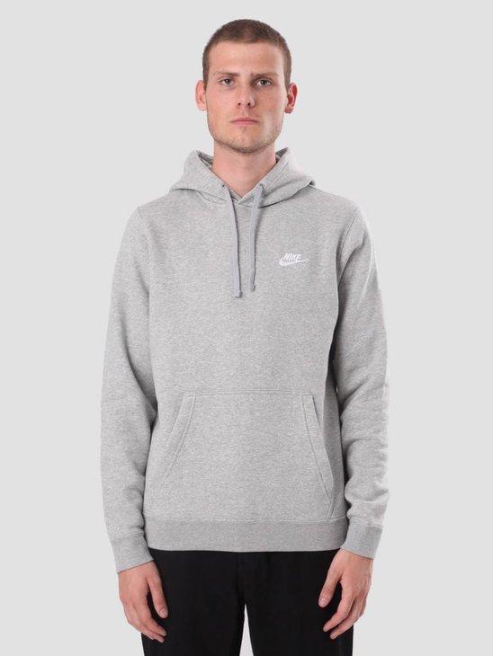 Nike Sportswear Hoodie Dk Grey Heather Dk Grey Heather White 804346-063