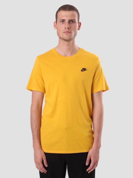 Nike Sportswear T-Shirt Yellow Ochre Black 827021-752