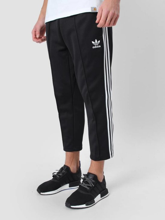adidas SST Relax Cropped Trackpants Black White BK3632