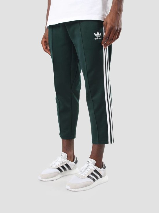 adidas SST Relax Cropped Trackpants Green Night White BR6826