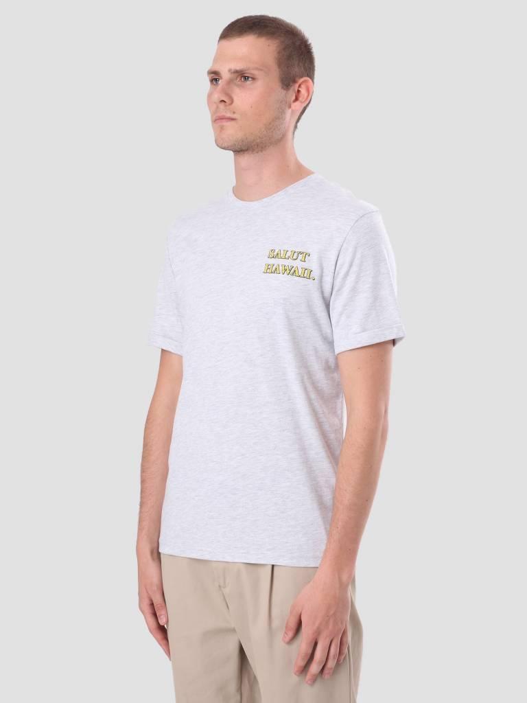 Les Deux Les Deux State Of Hawaii T-Shirt Snow Melange LDHS18012