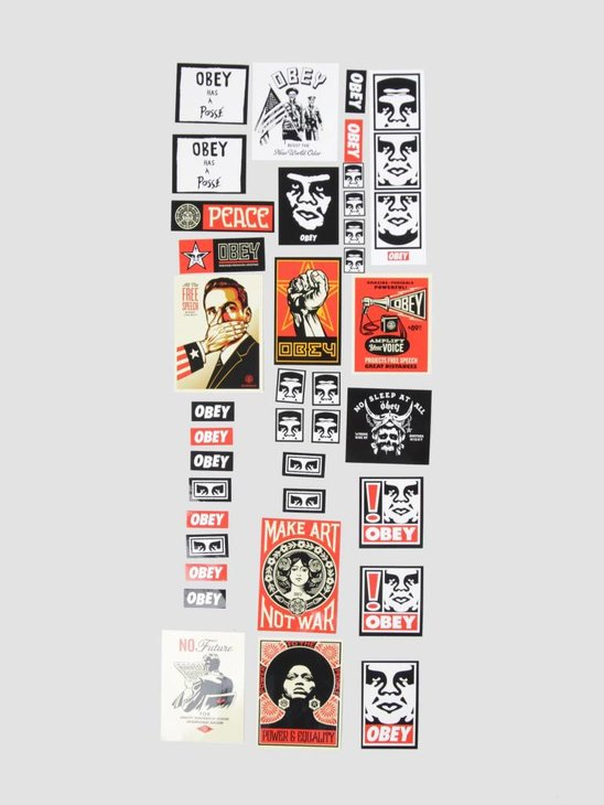 Obey Sticker 4 Pack Assorted Multi 100270007
