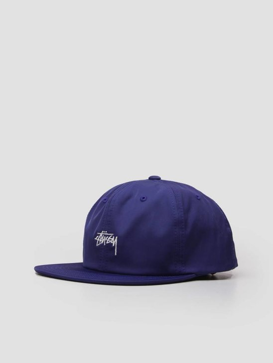 Stussy Stock Poly Cotton Cap Blue 131806