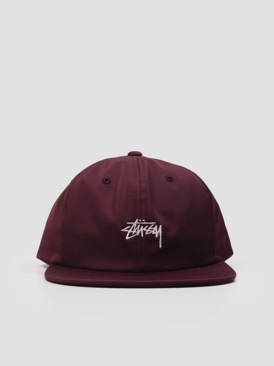 Stussy Stock Poly Cotton Cap Burgundy 131806