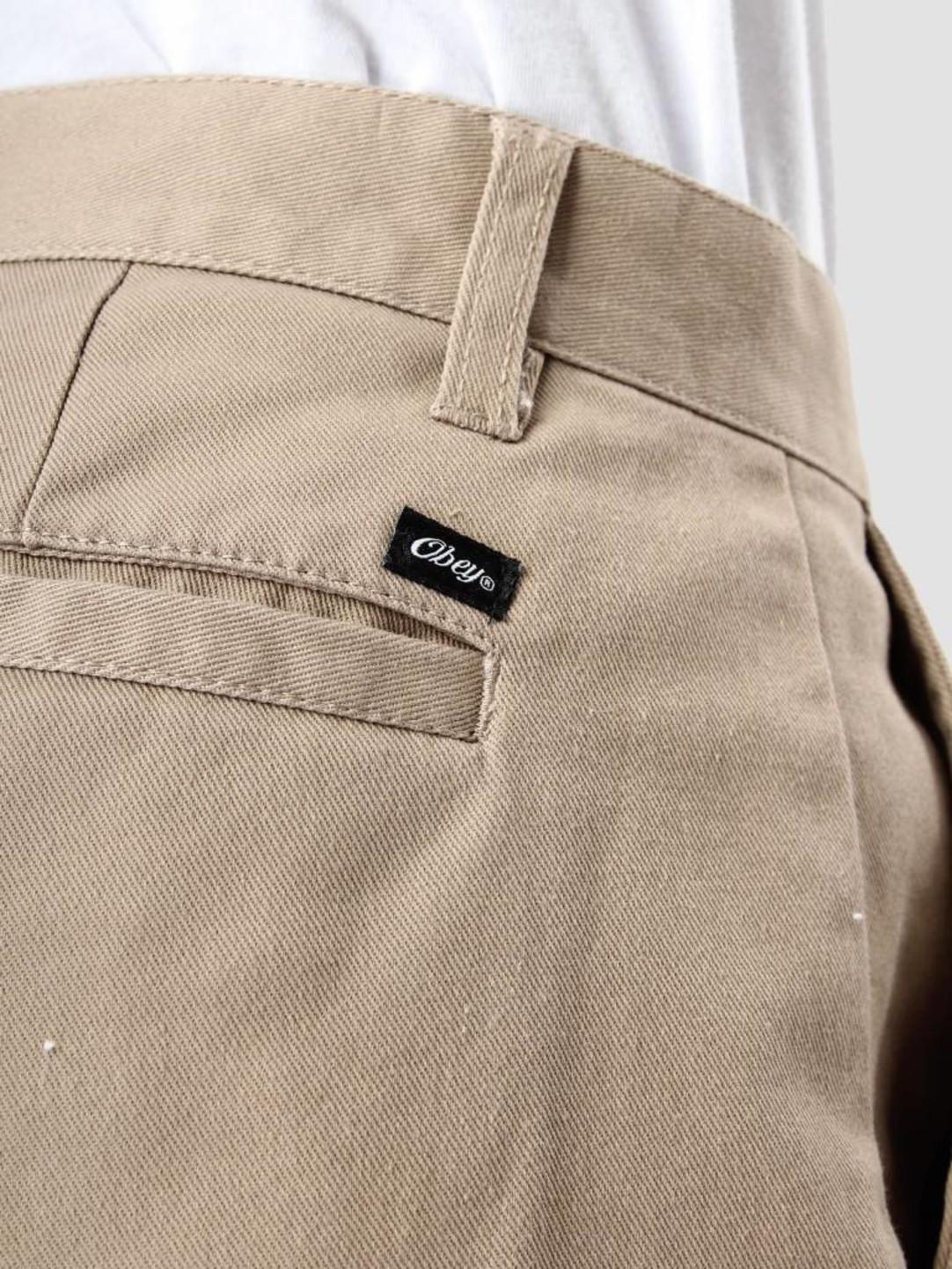Obey Obey Straggler Flodded Pant Khaki 142020060-Kha