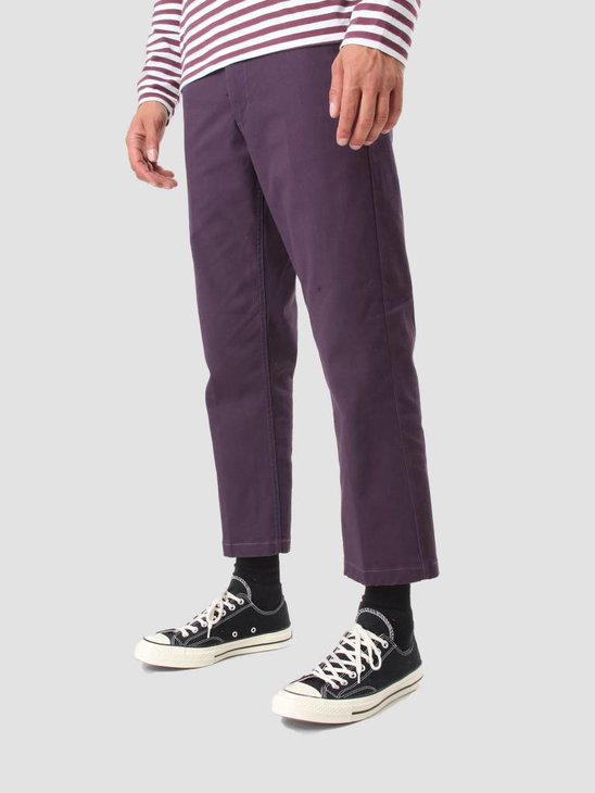 Obey Straggler Flooded Pant Dark Purple 142020060 Dpu