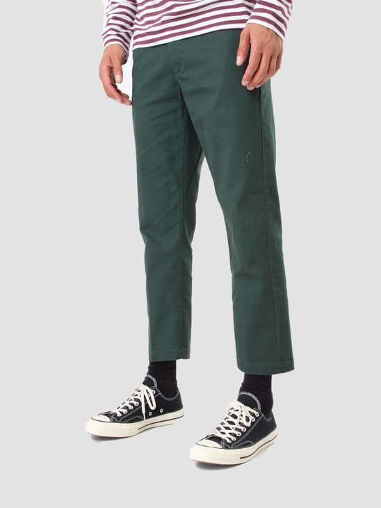 Obey Straggler Flooded Pant Forest Green 142020060 For
