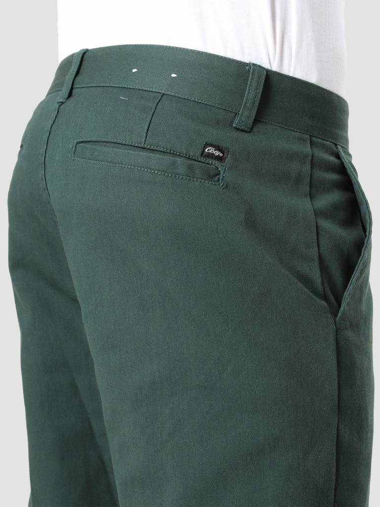 Obey Obey Straggler Flooded Pant Forest Green 142020060 For