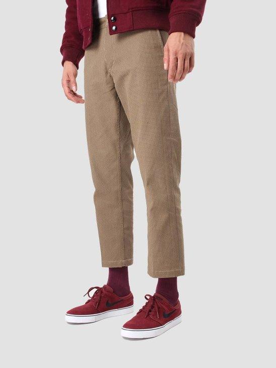 Obey Straggler Houndstooth Pant Khaki Multi 142020072 Kha
