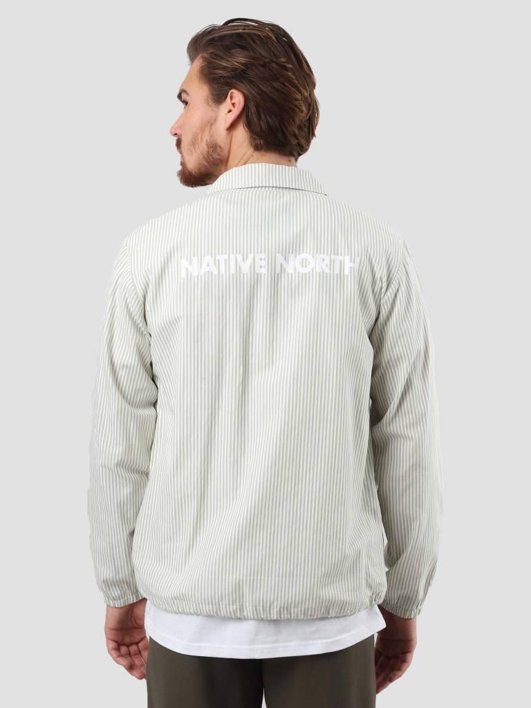 Native North Native North Striped Coach Jacket Green NNSS18003G