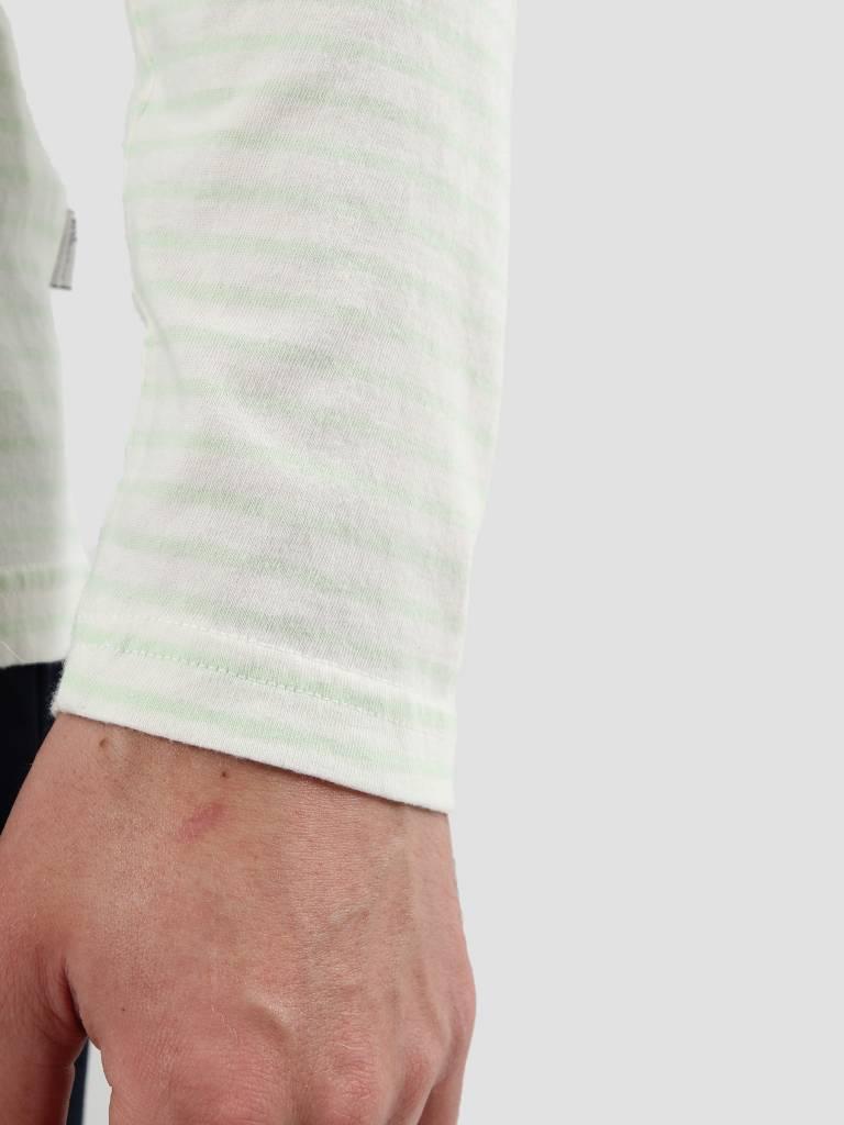 RVLT RVLT Striped Longsleeve Light Green 1011
