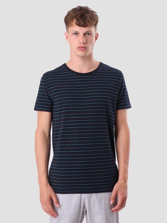 RVLT Striped T-Shirt Black 1977