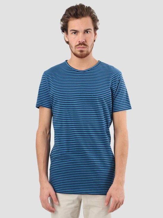 RVLT Striped T-Shirt Blue 1005
