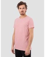 RVLT RVLT Striped T-Shirt Dark Red 1005