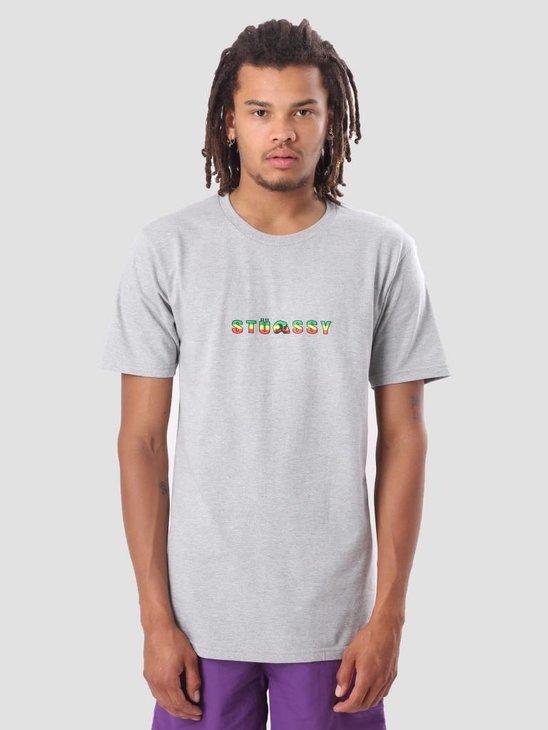 Stussy Stripes T-Shirt Grey Heather 1904235